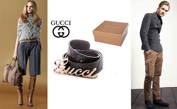 Ремень унисекс кожаный Gucci
