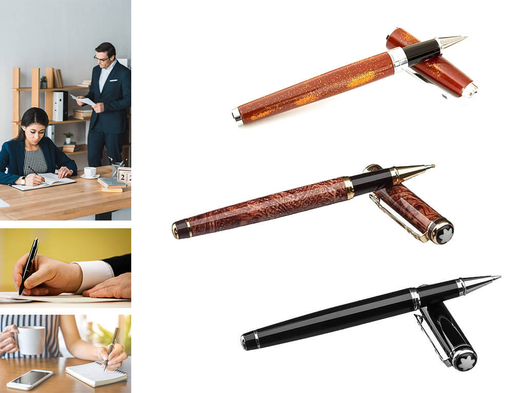 Брендовые ручки роллер с колпачком