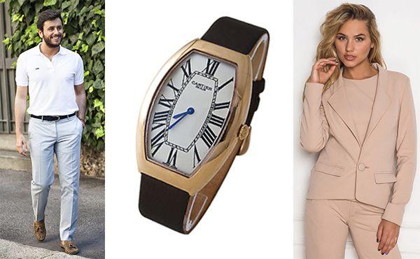 Часы Cartier с надежным комбинированным стеклом sapflex glass