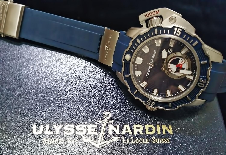 Точная реплика швейцарских часов Ulysse Nardin Diver Deep Dive Hammerhead Shark 46 mm