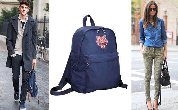 Рюкзак из ткани от Kenzo