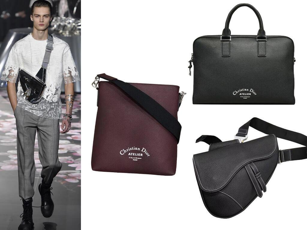 Мужские кожаные сумки Кристиан Диор