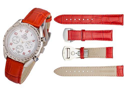 Красный ремешок для часов Omega