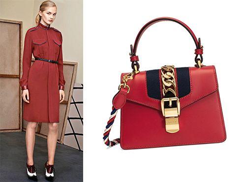 Дамская красная сумка от Gucci