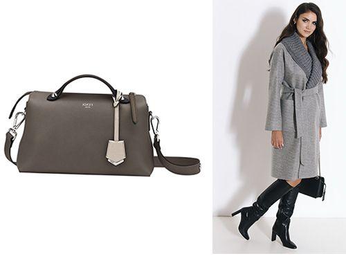 Женская сумка Fendi серого цвета