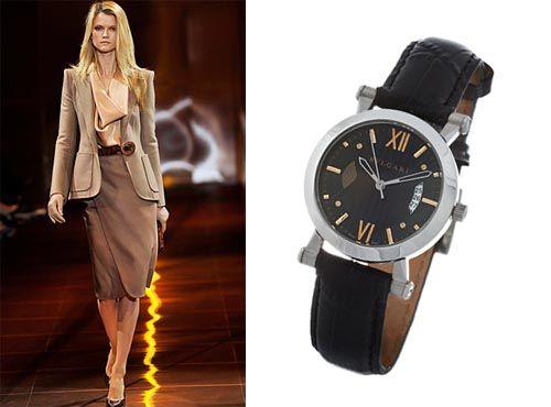 Часы от Bvlgari с датой
