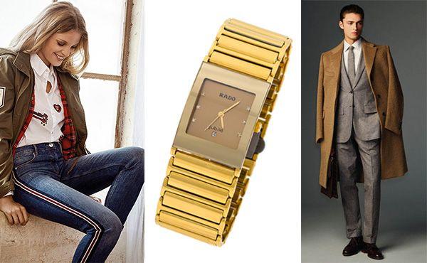 Часы Rado с браслетом в золоте