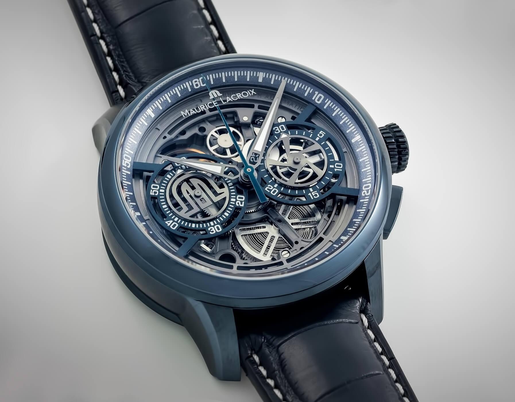 Мужские часы Maurice Lacroix Masterpiece Chronograph Skeleton