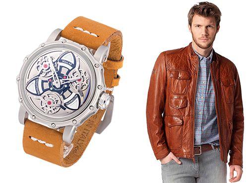 Мужские часы MaxLAB ремень оранжевый