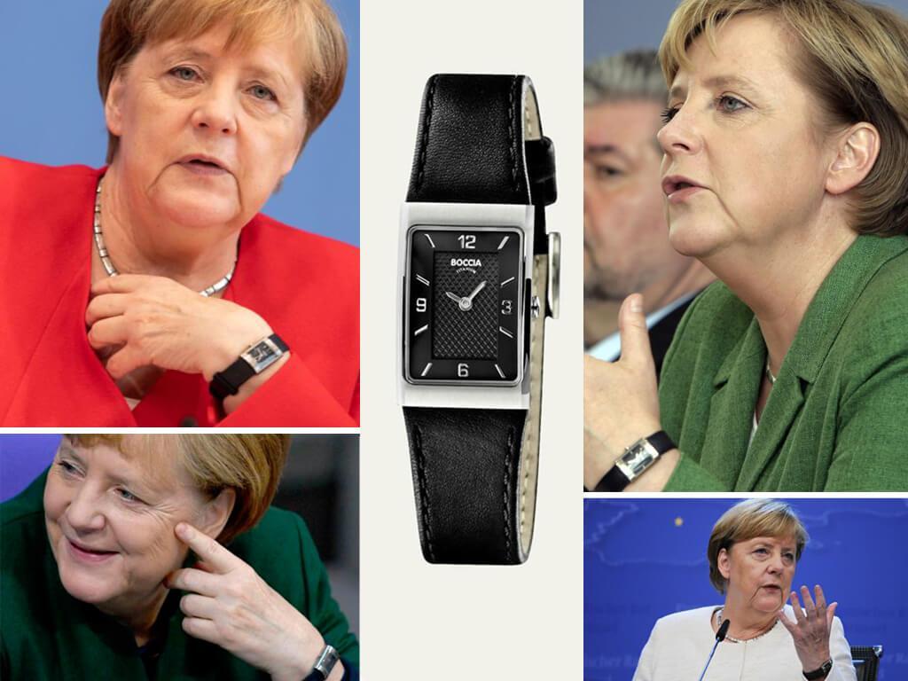 Канцлер Германии Ангела Меркель носит часы Boccia Titanium