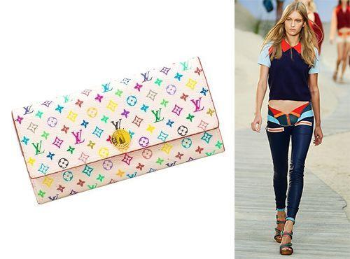 Разноцветный клатч Louis Vuitton