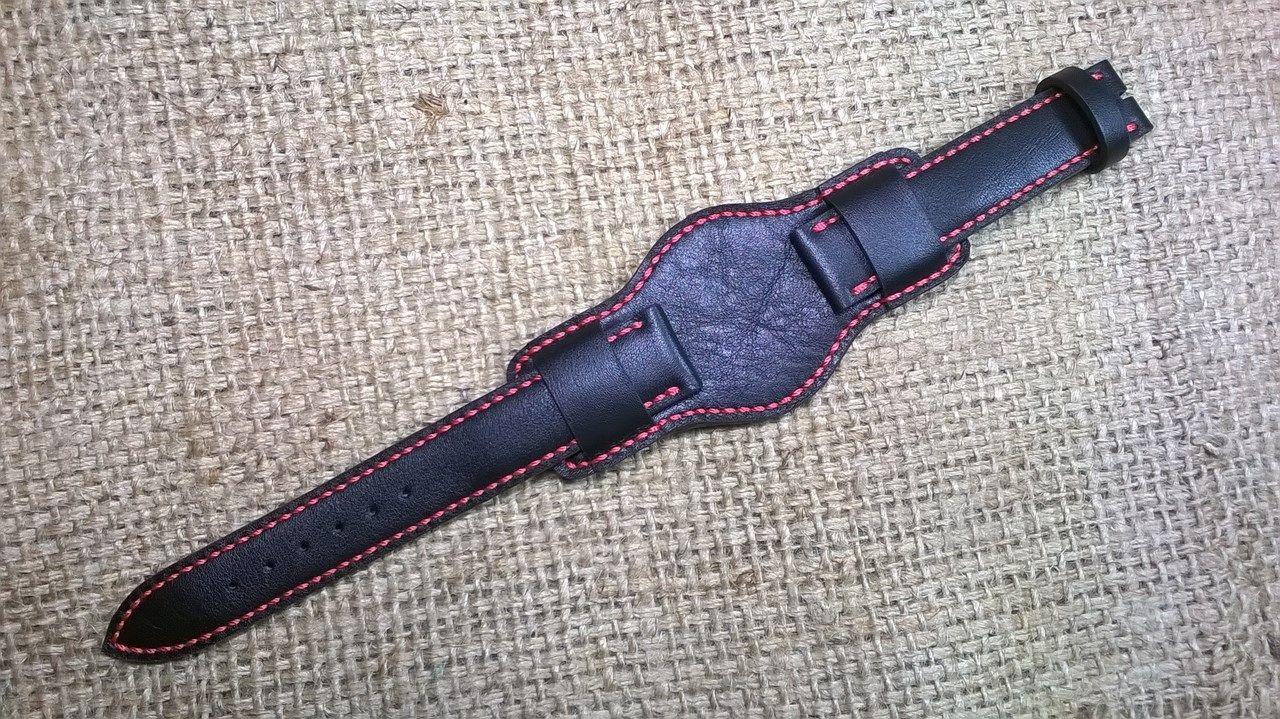 Ремешок БУНД для мужских наручных часов из натуральной телячьей кожи под заказ
