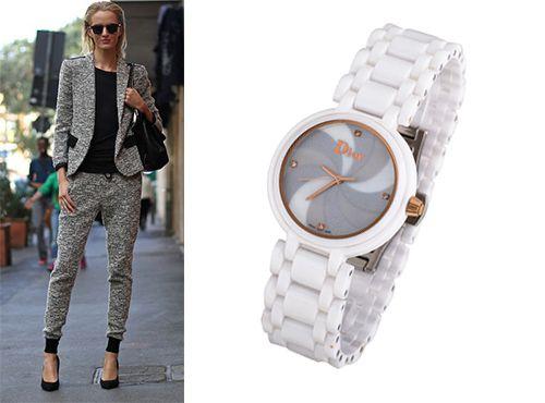 Женские часы Christian Dior с серым циферблатом