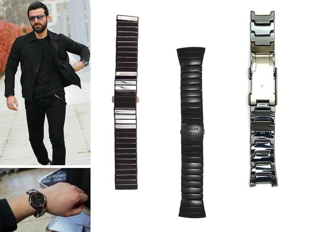 Керамический браслет для часов Rado