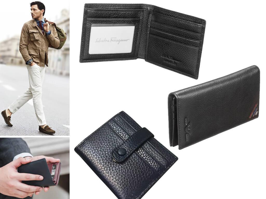 Кожаные мужские портмоне