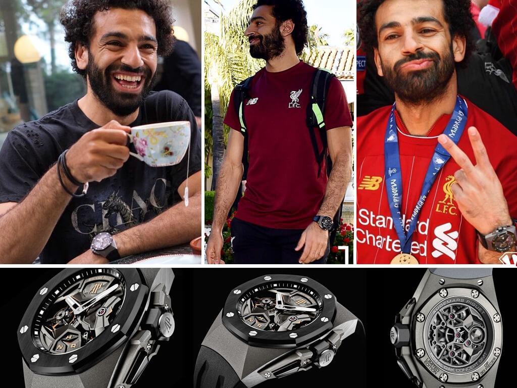 Часы Мохаммеда Салаха Audemars Piguet Royal Oak Concept GMT Парящий турбийон