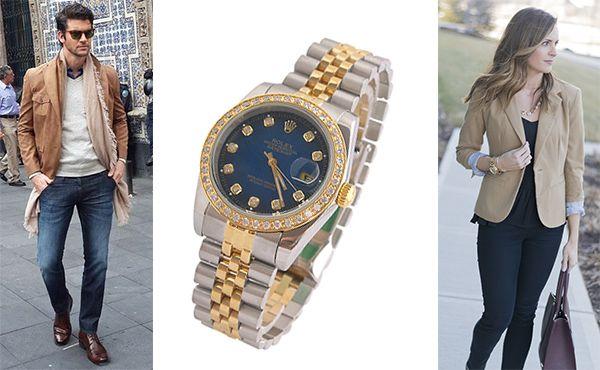 Наручный хронометр Rolex с циферблатом синего цвета