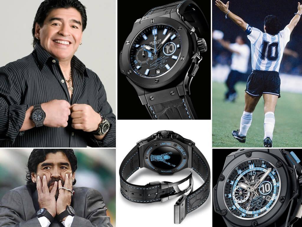 Марадона в часах Hublot Big Bang 44mm Limited Edition Maradona