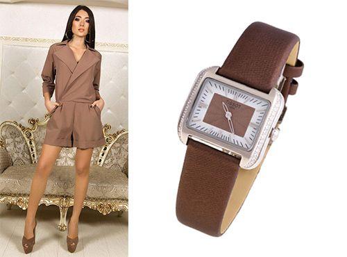 Женские часы Tissot с циферблатом коричневого цвета