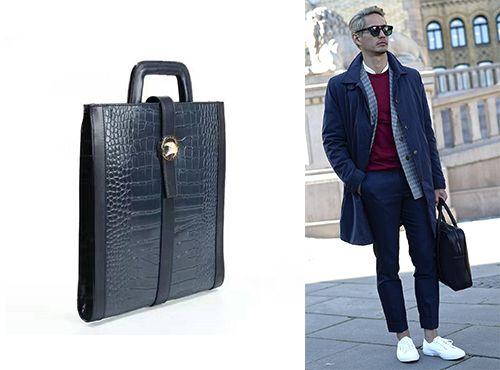Мужская сумка Stefano Ricci на коротких ручках