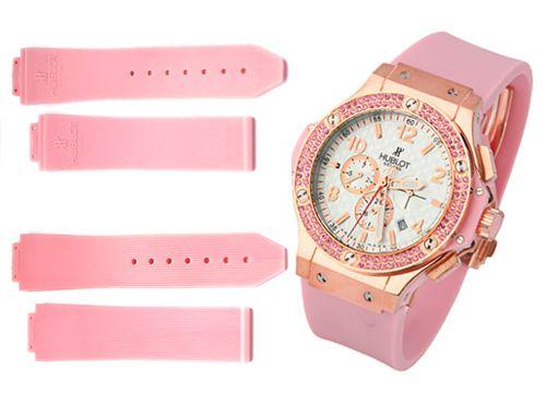 Ремень для часов Hublot розового цвета