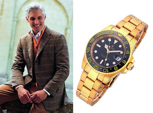 Наручные часы Ролекс с черным циферблатом и позолотой