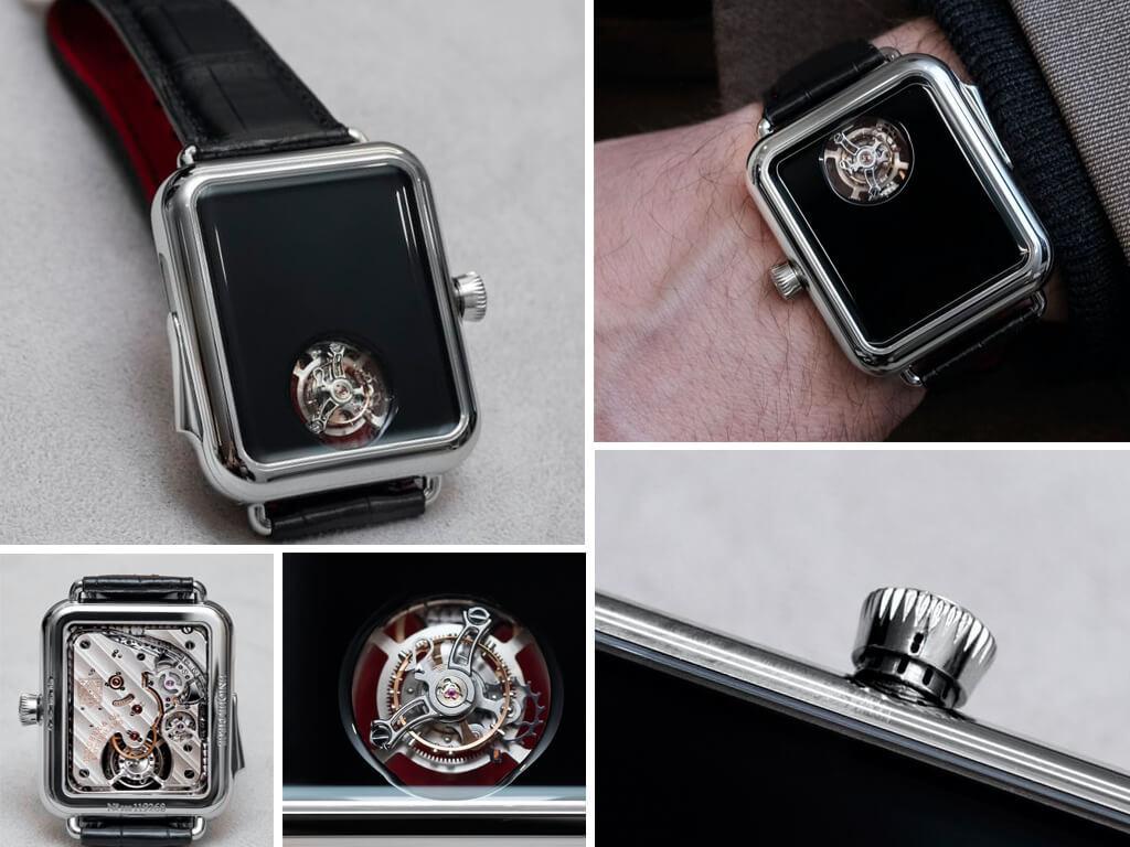 Наручные часы Мозер энд Си с репетиром и турбийоном (Swiss Alp Watch Concept Black)