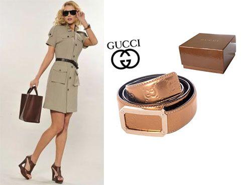 Женский кожаный пояс Gucci