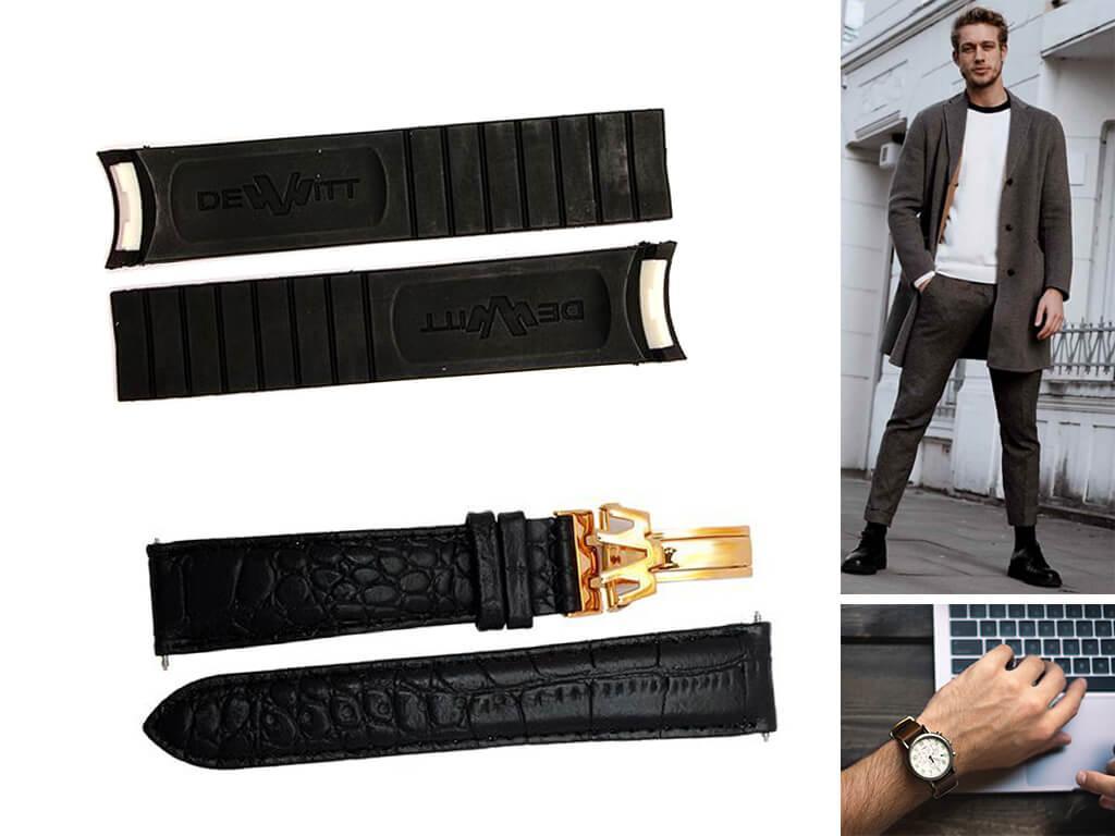 Ремешки для часов Dewitt красивы, удобны и комфортны в носке