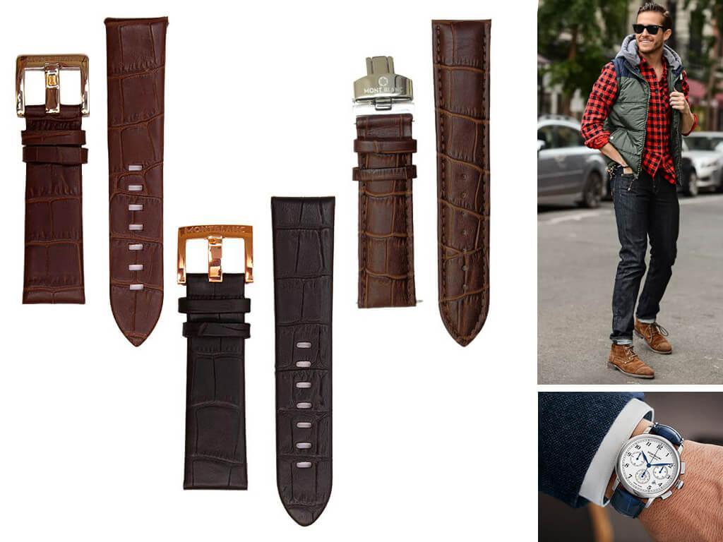 Кожаные ремешки для часов Montblanc