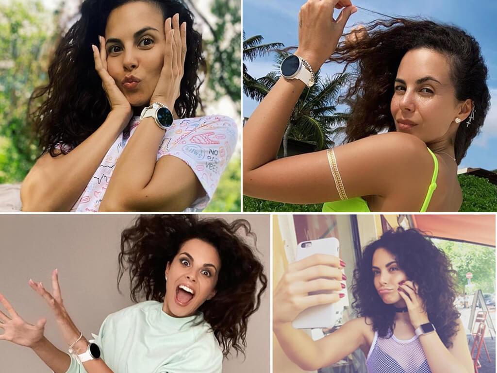 Анастасия Каменских предпочитает носить смарт-часы Apple и Samsung