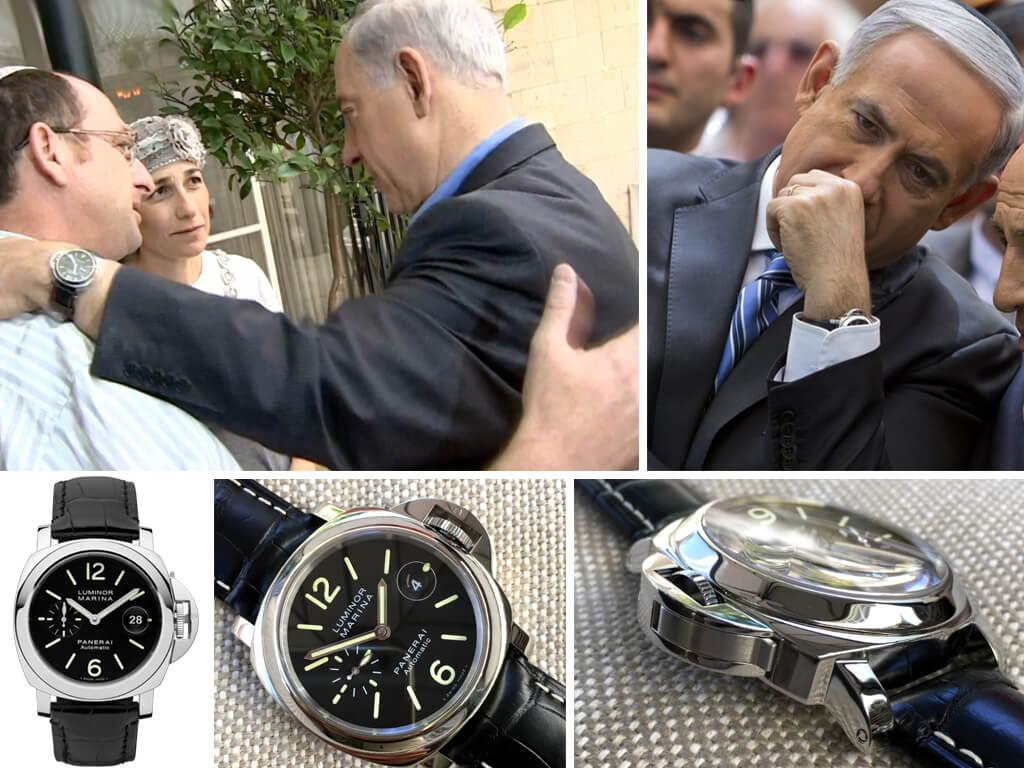 Премьер-министр Израиля Биньямин Нетаньяху и его часы Панерай Люминор