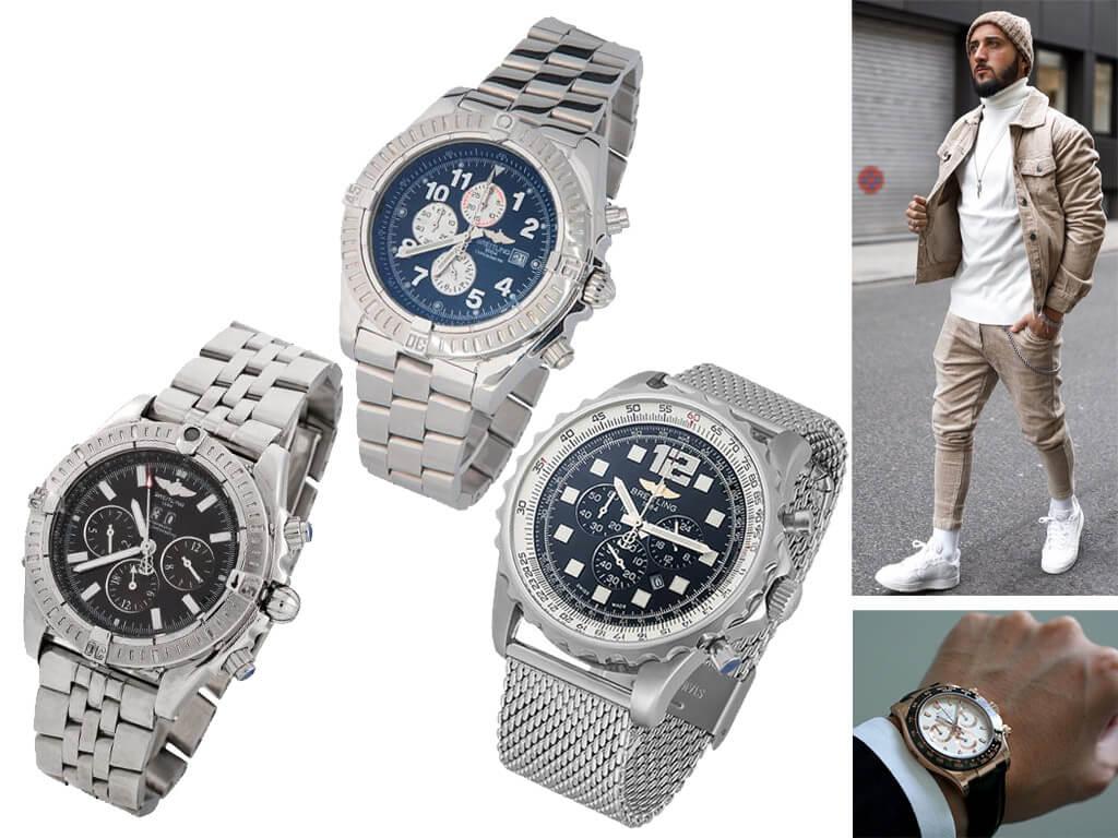 Часы Breitling на браслете