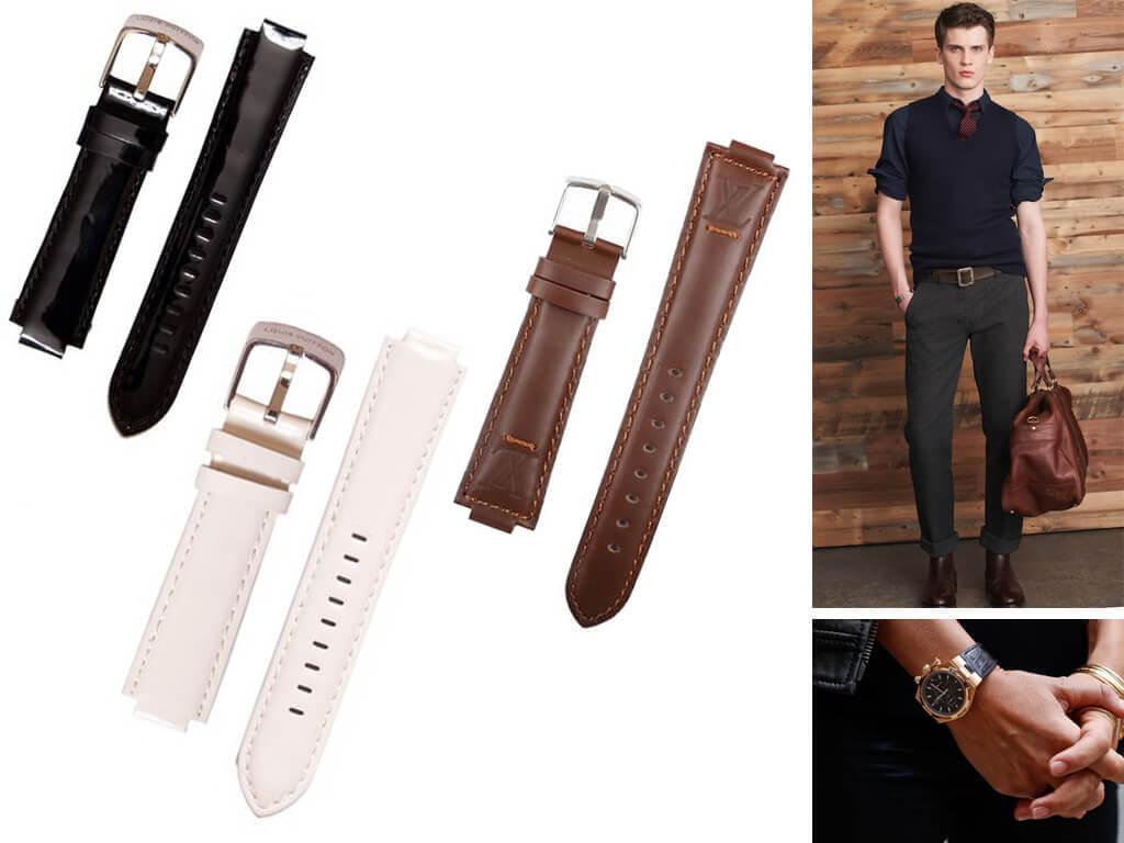 Ремни на часы Луи Виттон - это сочетание качественного материала, функциональности и комфорта