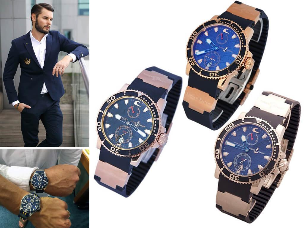 Наручные часы Ulysse Nardin линейки Black Surf коллекции Diver