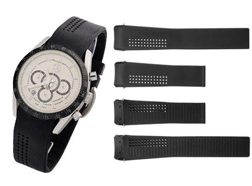 Черный браслет для часов Tag Heuer