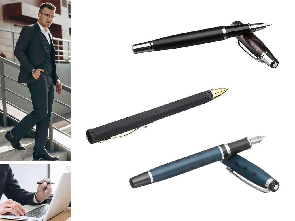 Мужские и женские ручки из матовой стали