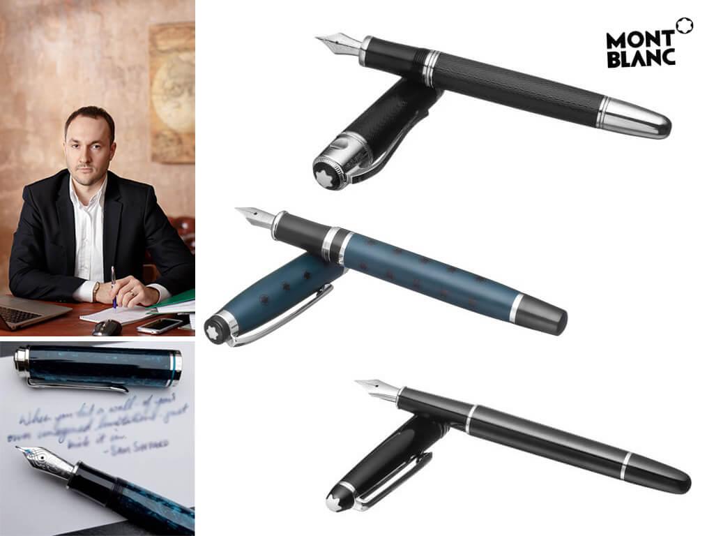Мужские перьевые ручки Монблан