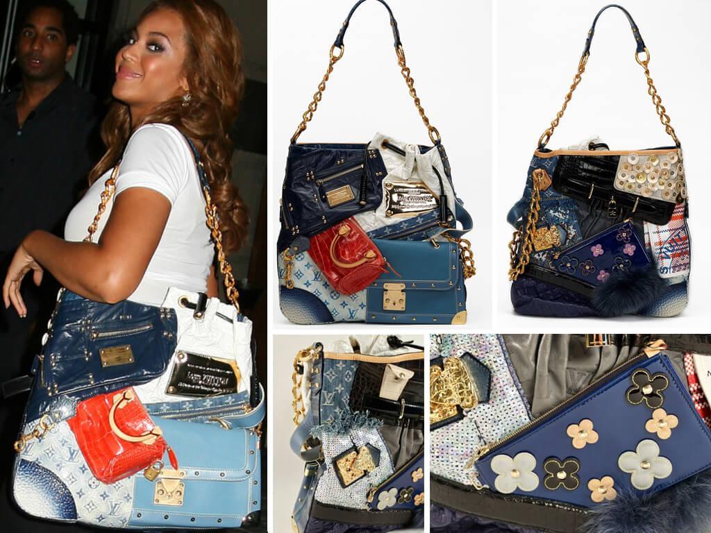 Бейонсе с сумкой Louis Vuitton Tribute Patchwork.
