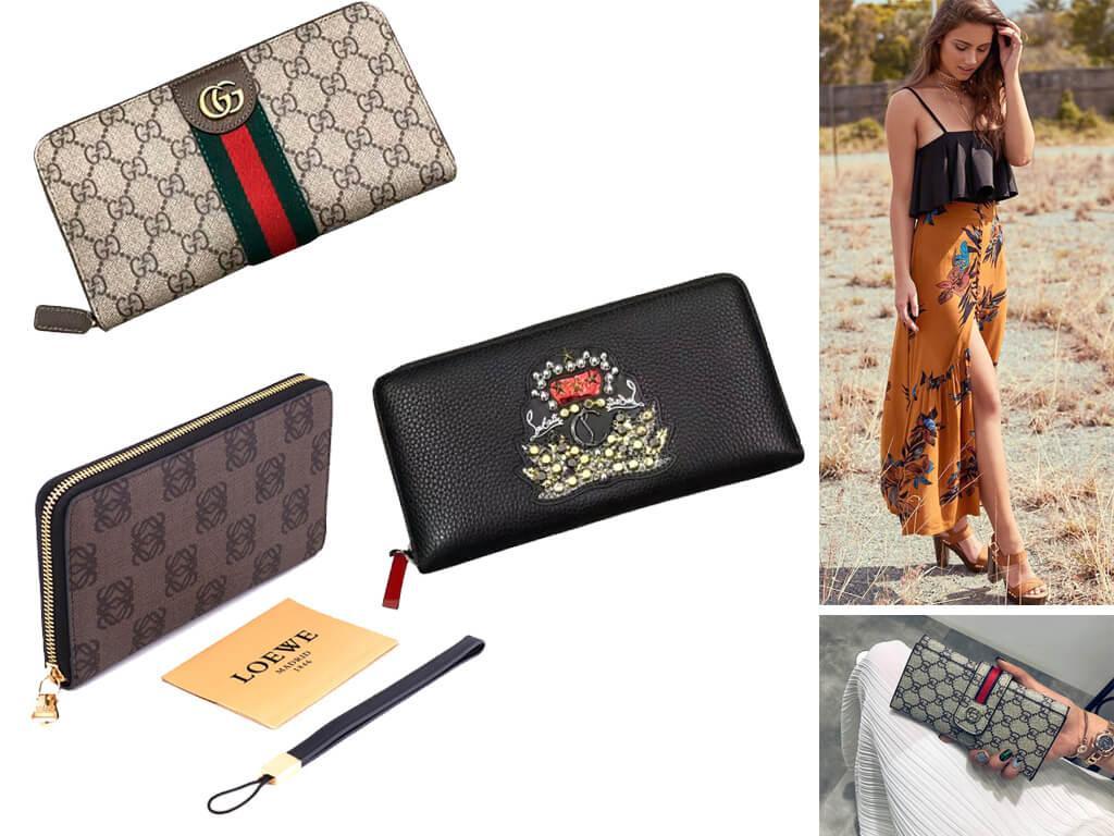 Для пошива дизайнерских сумочек для денег используется, в основном, натуральная кожа.