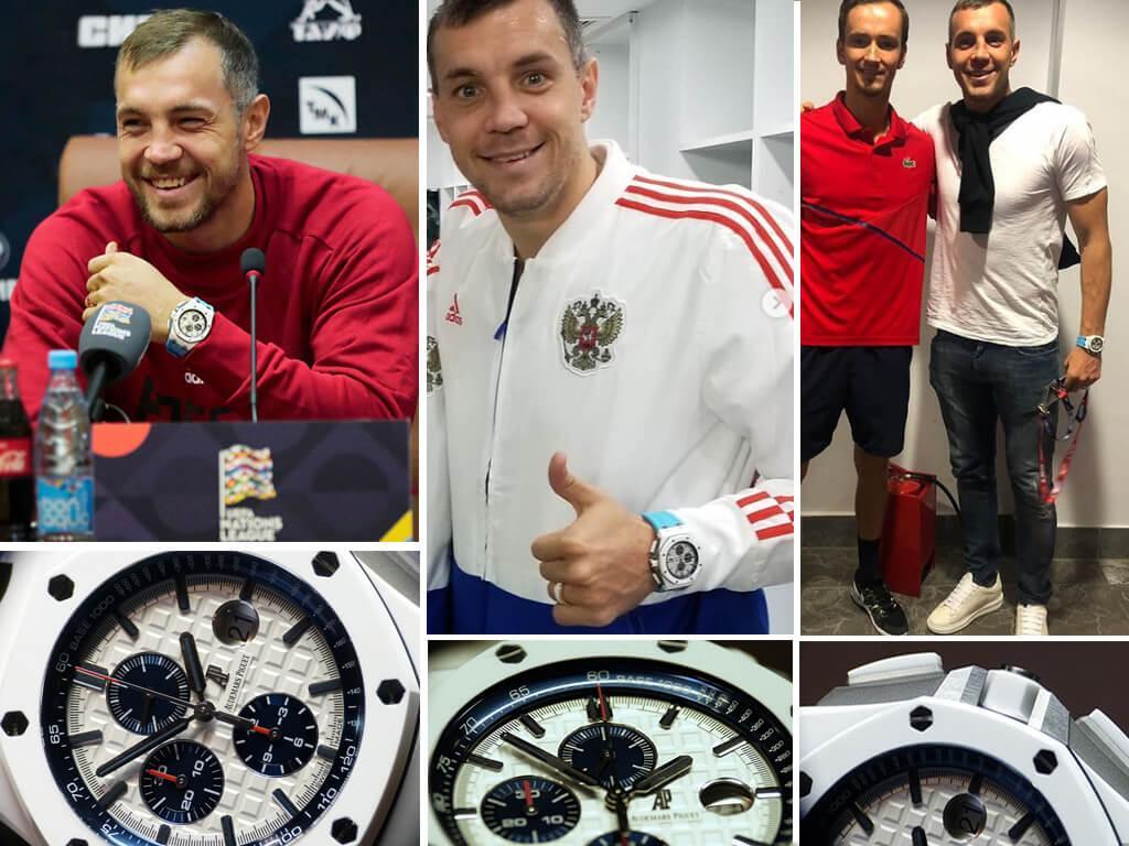 Артем Дзюба и его часы Адемар Пиге Роял Оук Офшор Хронограф