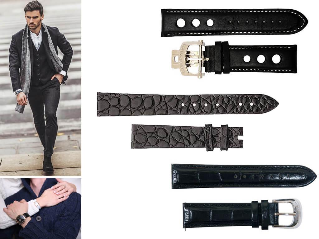 Ремешки на часы Chopard выполнены в полном соответствии стилистике корпуса и дизайнерской идее циферблата