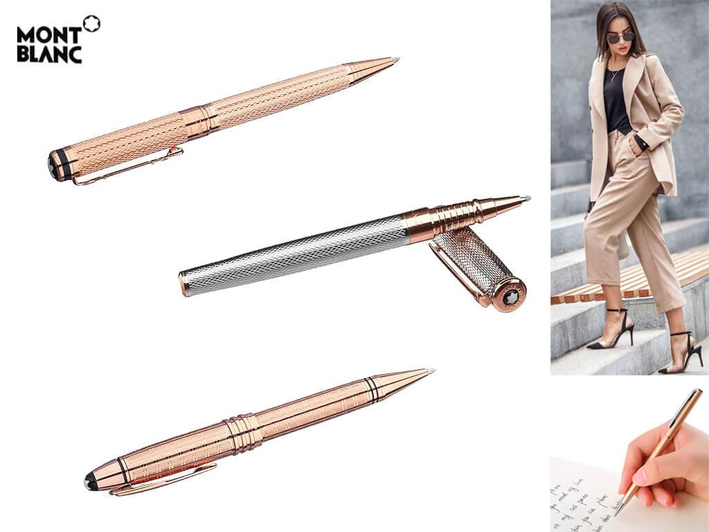 Ручки с позолотой в оттенке розовое золото для девушек и женщи