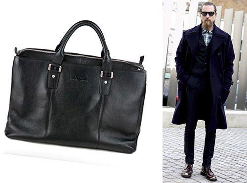 Брендовая сумка Giorgio Armani из натуральной кожи