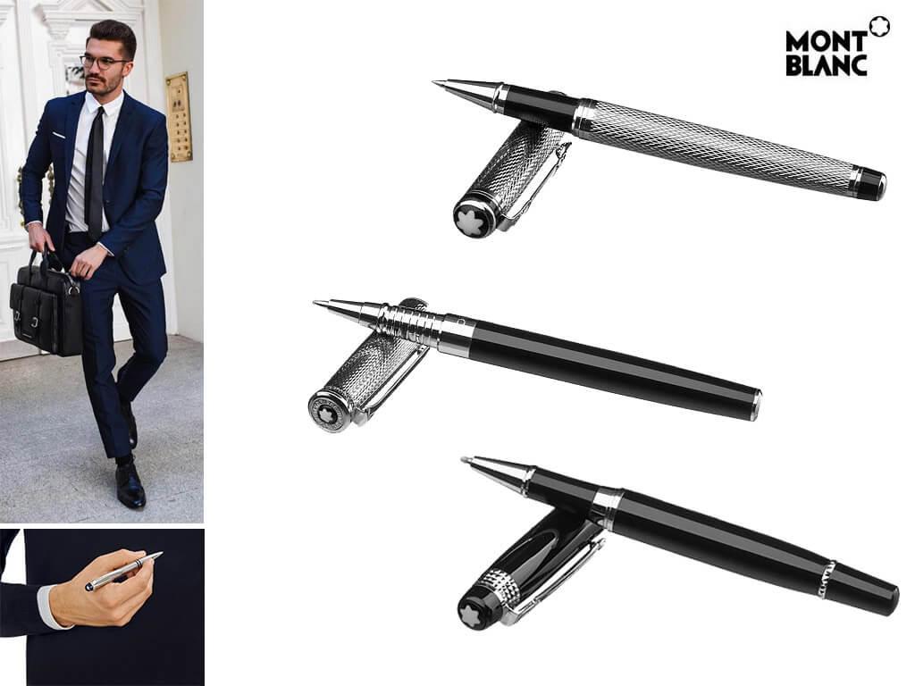 Брендовые ручки черные с логотипом