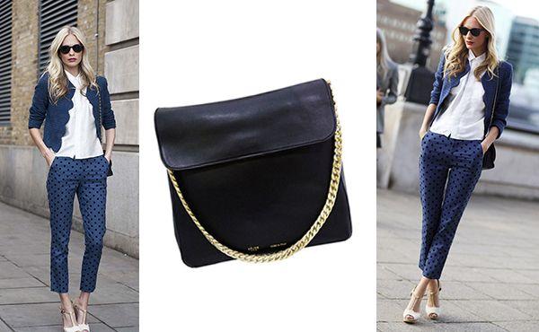 Черная кожаная брендовая сумка