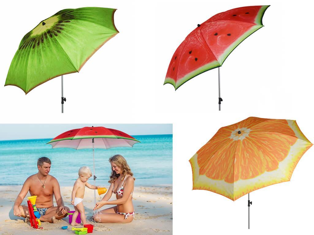 Выбирая пляжный зонт, следует обратить внимание на возможность регулировки наклона, диаметр и материал купола