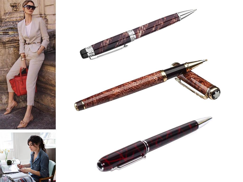Женские брендовые ручки с рисунками