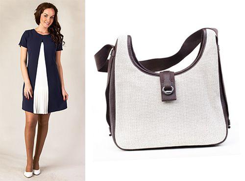 Женская тканевая сумка Hermes