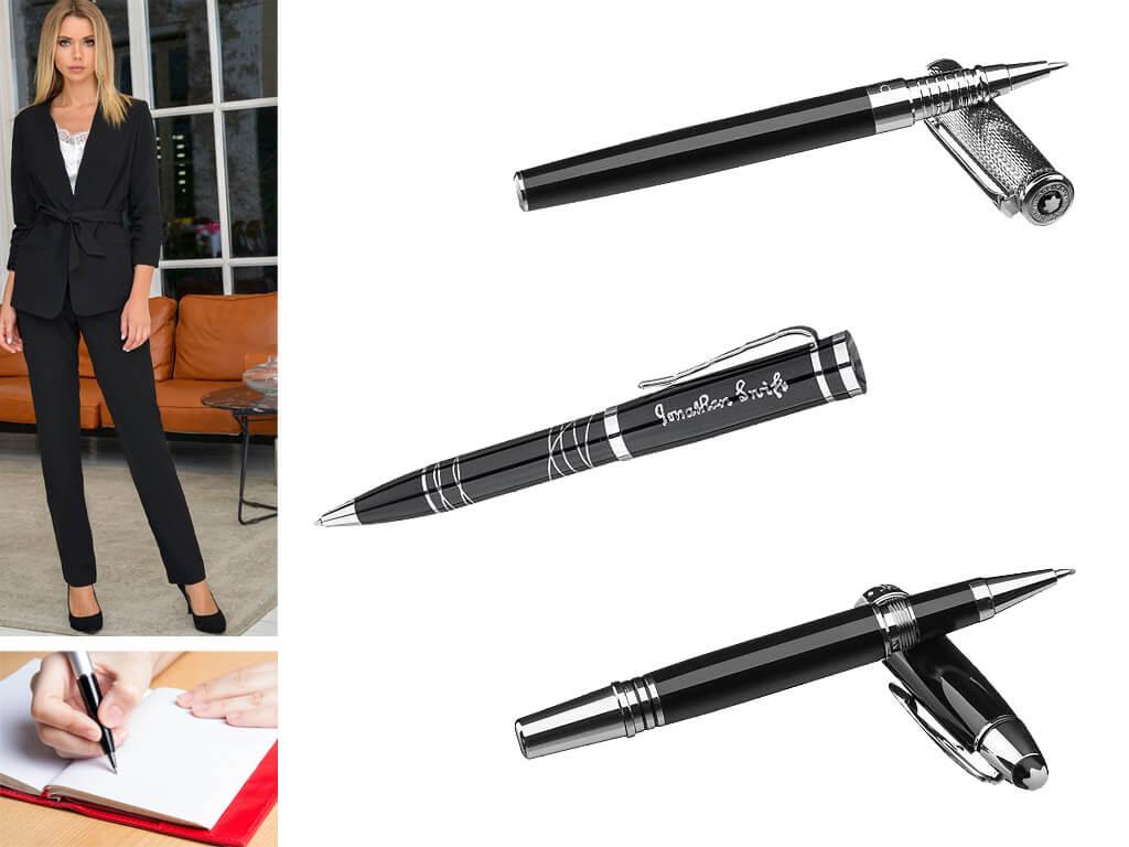 Женские ручки черного цвета